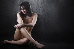 Beautiful attractive female body in erotic pose Stock Photography