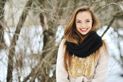 Beautiful attractive girl face - close up Royalty Free Stock Images