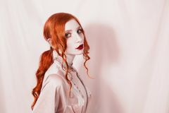 Free Beautiful Attractive Girl With Red Hair Royalty Free Stock Photo - 106177595