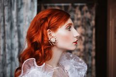 Free Beautiful Attractive Girl With Red Hair Royalty Free Stock Image - 106178466