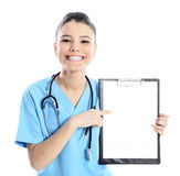 Beautiful attractive nurse doctor Royalty Free Stock Photography