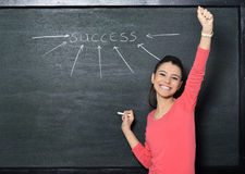 Beautiful attractive student teacher Stock Images
