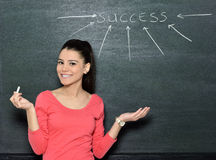 Beautiful attractive student teacher Royalty Free Stock Photo