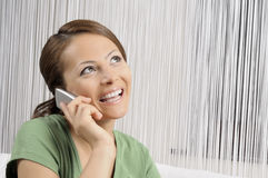 Beautiful attractive women calling Royalty Free Stock Images