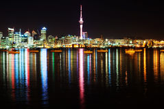 The beautiful Auckland skyline. By night Stock Photography