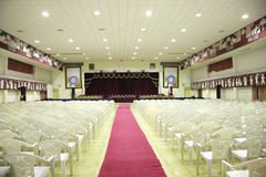 Beautiful auditorium ready for award ceremony Royalty Free Stock Photography