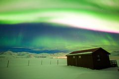 Aurora Borealis or better known as The Northern Lights. Beautiful Aurora Borealis or better known as The Northern Lights for background view in Iceland stock image
