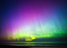 Beautiful Aurora Borealis Royalty Free Stock Images