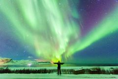 Beautiful Aurora Borealisor better known as The Northern Lights stock photos