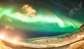 Beautiful Aurora Borealisor better known as The Northern Lights royalty free stock images