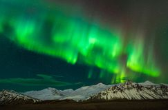 Aurora borealist in Southern Iceland. Beautiful Aurora Borealist, northern lights captured in Southern Iceland during winter stock images