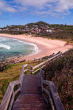 Beautiful Australian Beach on the Pacific Ocean royalty free stock image