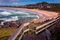 Beautiful Australian Beach on the Pacific Ocean royalty free stock images