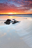 Beautiful australian beach at twilight Royalty Free Stock Photography