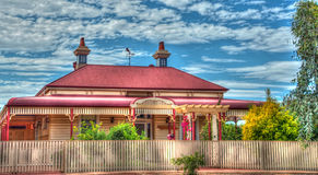 Beautiful Australian Cottage with a veranda all around the home. Beautiful Australian Cottage with a veranda Royalty Free Stock Photos