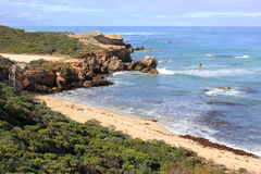 Beautiful Australian rocky coastline Stock Photos