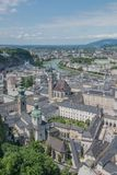 The beautiful Austrian City of Salzburg, showing a view towards the River Salzach. royalty free stock photos