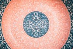Oriental pattern palte. stock image