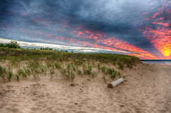 Beautiful Autrain beach on the shores of Lake Superior in Upper Royalty Free Stock Photography