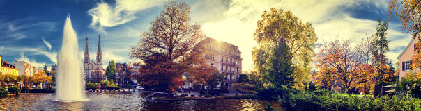 Beautiful autum cityscape of Baden-Baden, Germany Royalty Free Stock Images
