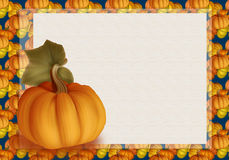 Beautiful Autumn Background Card with Pumpkins in Warm Colors. Royalty Free Stock Image