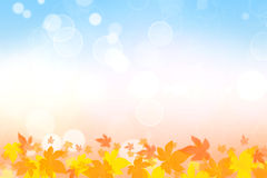Beautiful autumn background. Beautiful colorful autumn background. Golden, yellow, orange and blue royalty free illustration