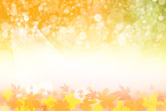 Beautiful autumn background. Beautiful colorful autumn background. Golden, yellow, orange and blue Stock Photo