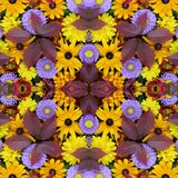 Beautiful autumn background, effect of a kaleidoscope. Royalty Free Stock Photography