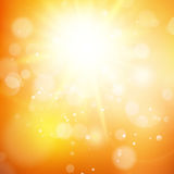Beautiful autumn background with sun. EPS 10. Vector file included Stock Images