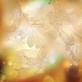 Beautiful autumn background with sun. EPS 10 Royalty Free Stock Photography
