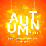 Beautiful autumn banner for sale Stock Images