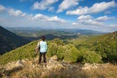 Beautiful Autumn Beech Forest En Mountain Montseny In Spain, Near Viladrau Stock Photo