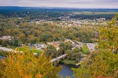 Beautiful autumn city Stock Photos