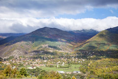 Beautiful   autumn cloudy landscape Stock Images