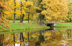 Beautiful autumn day in Pushkin Stock Photos
