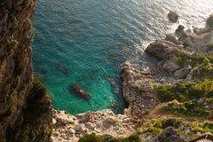 Beautiful autumn day at Via Krupp, Capri Island ,Italy Royalty Free Stock Photography