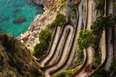 Beautiful autumn day at Via Krupp, Capri Island ,Italy Stock Photo