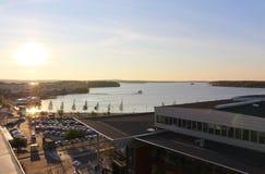 Beautiful autumn evening in Luleå Stock Photography