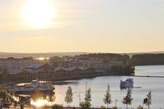 Beautiful autumn evening in Luleå Royalty Free Stock Photo