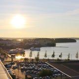 Beautiful autumn evening in Luleå Stock Photos