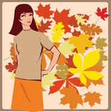 Beautiful autumn girl Royalty Free Stock Photos