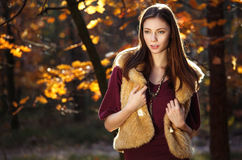 Beautiful autumn girl smiling Royalty Free Stock Images