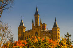 Beautiful Autumn in Hohenzollern Castle and around, Germany Royalty Free Stock Photo