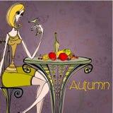 Beautiful autumn illustration Stock Image