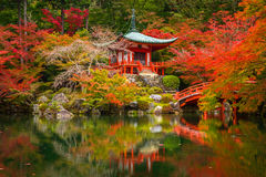 Beautiful autumn in japanese garden Stock Photo