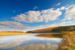 Beautiful autumn lake. Stock Photo