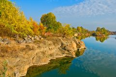 Beautiful autumn lake Royalty Free Stock Photo