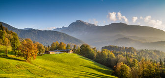 Beautiful autumn landscape in the Alps Stock Photography
