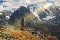 Beautiful autumn landscape, Altai mountains Russia. Royalty Free Stock Photos