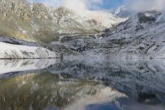 Beautiful autumn landscape, Altai mountains Russia. Stock Photo